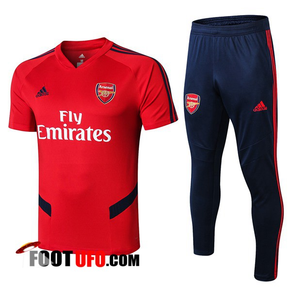 Ensemble Training T-Shirts Arsenal + Pantalon Rouge 2019/2020