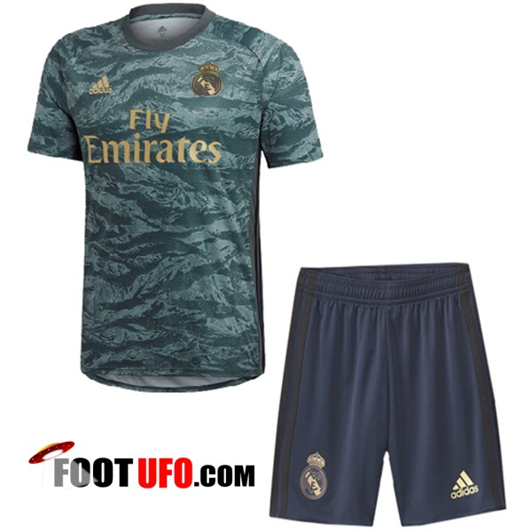 Maillot de Foot Real Madrid Enfants Gardien de but Gris 2019/2020