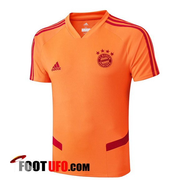 Nouveaux: 11Foots-fr Training T-Shirts Bayern Munich Orange 2019/2020