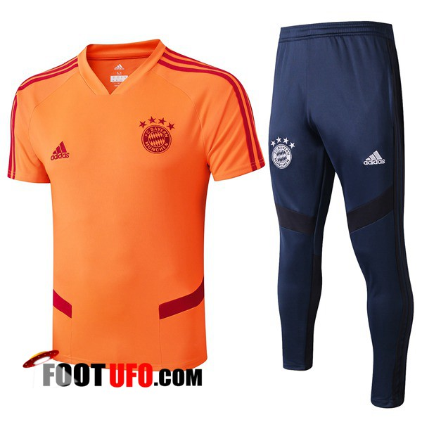 Nouveaux: 11Foots-fr Training T-Shirts Bayern Munich + Pantalon Orange 2019/2020