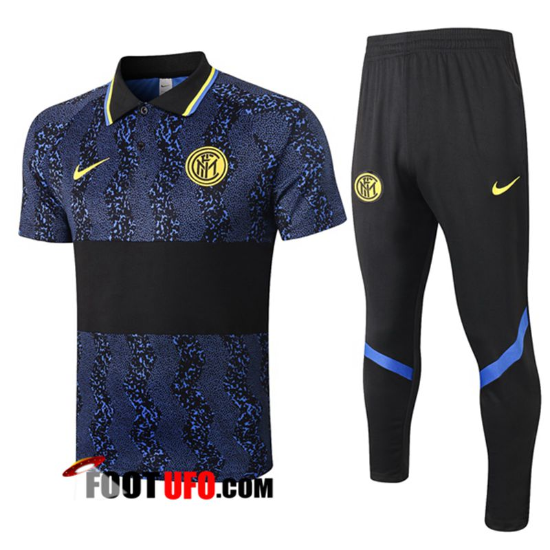 Ensemble Polo Inter Milan + Pantalon Bleu 2020/2021