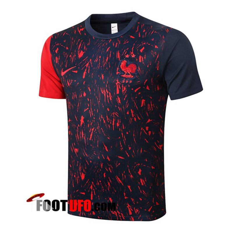 Training T-Shirts France Rouge Noir 2020/2021