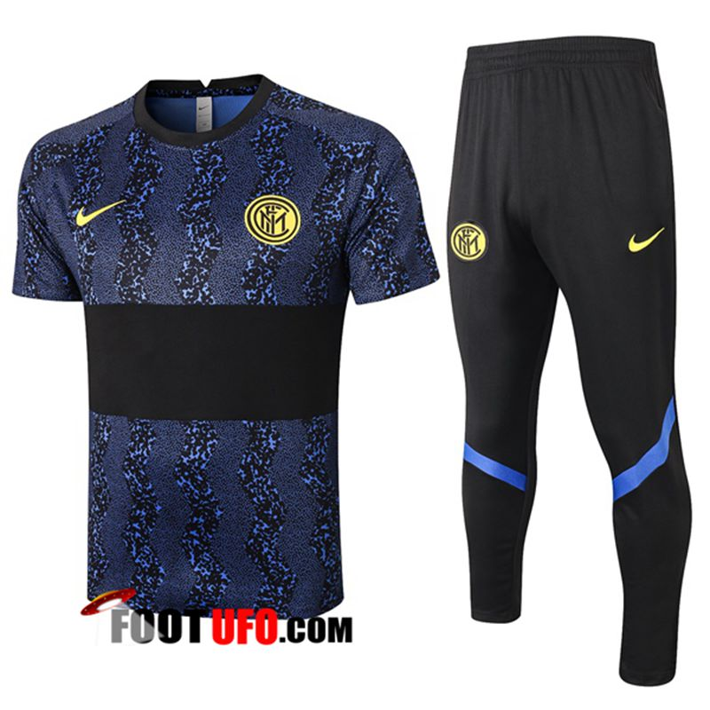 Ensemble Training T-Shirts Inter Milan + Pantalon Noir 2020/2021