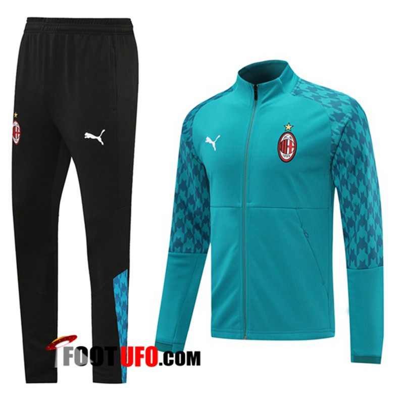 Ensemble Survetement de Foot - Veste Milan AC Bleu 2020/2021