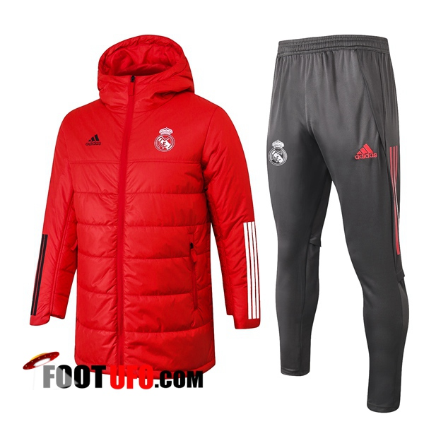 Doudoune Du Foot Real Madrid Rouge + Pantalon 2020/2021