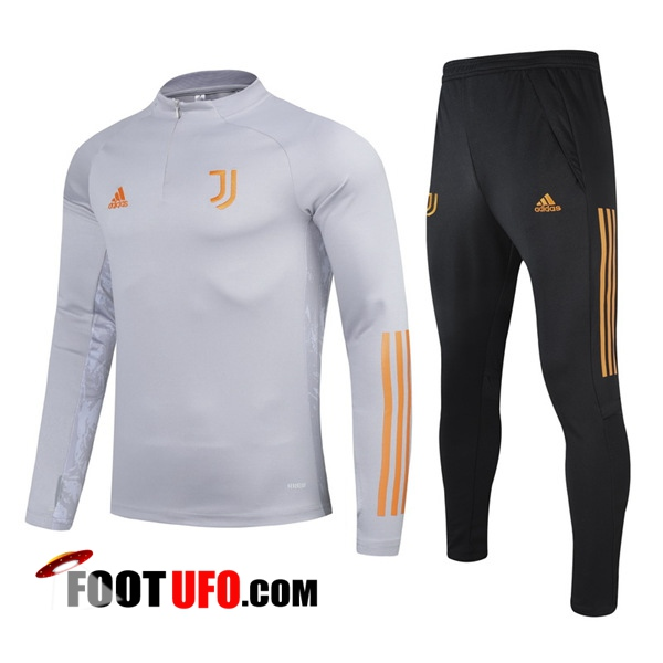 Ensemble Survetement de Foot Juventus Enfant Gris 2020/2021