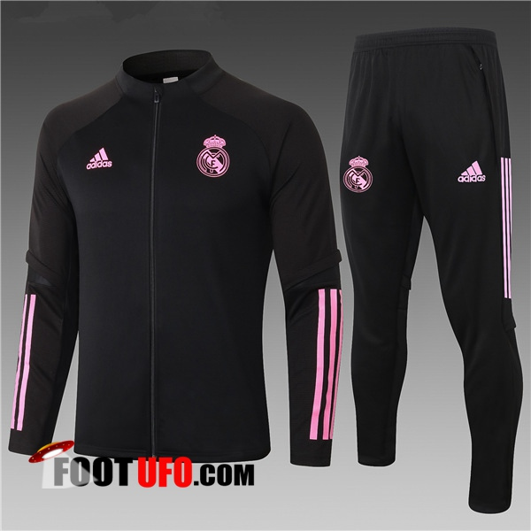 Ensemble Survetement Foot - Veste Real Madrid Enfant Noir 2020/2021