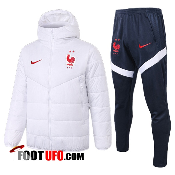 Doudoune De Foot France + Pantalon Blanc 2020/2021