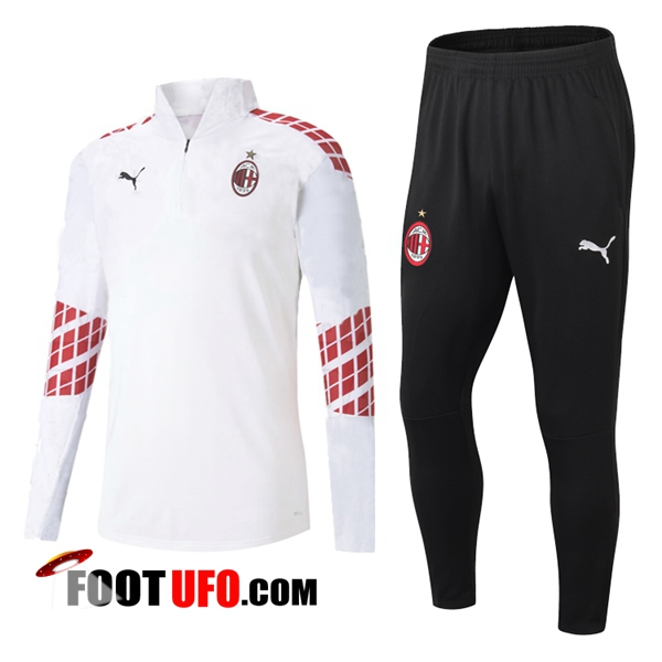 Ensemble Survetement de Foot - Veste Milan AC Blanc 2020/2021