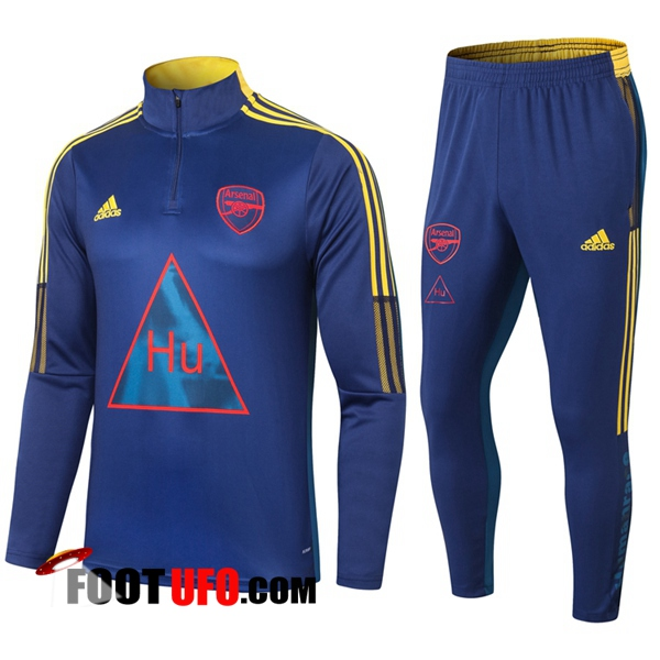 Ensemble Survetement de Foot Arsenal Joint Edition Bleu 2020/2021