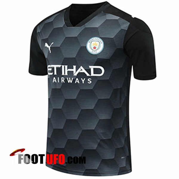 11Foots-fr Maillot Manchester City Gardien De But Noir 2020/2021