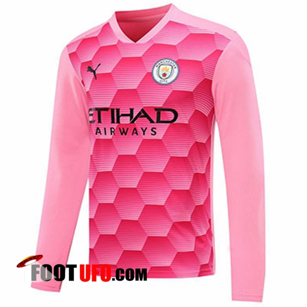 11Foots-fr Maillot Manchester City Gardien De But Rouge Manche longue 2020/2021
