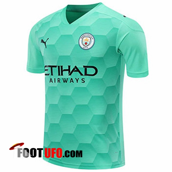 11Foots-fr Maillot Manchester City Gardien De But Vert Clair 2020/2021