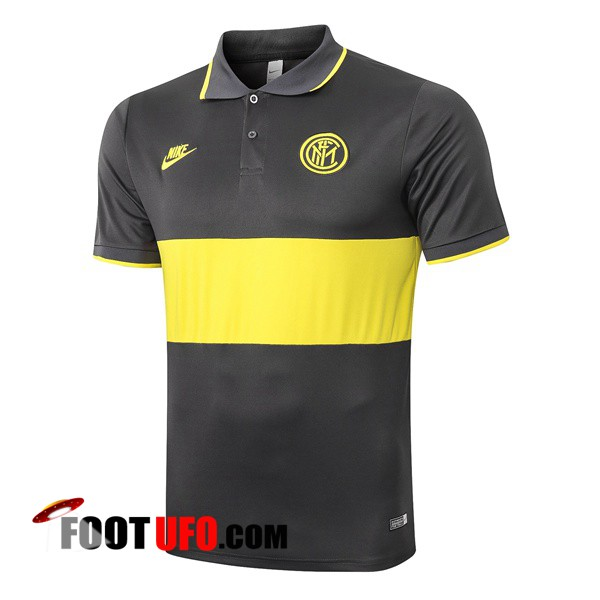Polo Foot Inter Milan Gris Jaune 2019/2020
