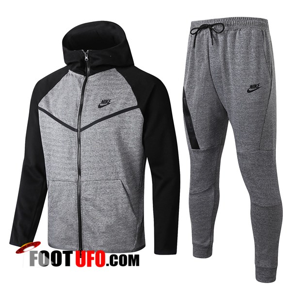 Veste A Capuche Survetement Foot NIKE Gris 2019/2020