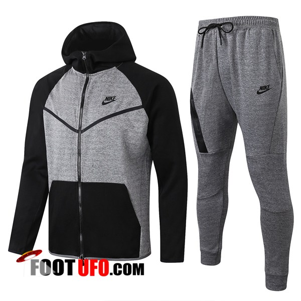 Veste A Capuche Survetement Foot NIKE Noir Gris 2020/2021