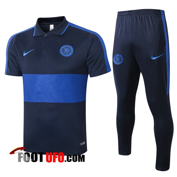 Ensemble Polo FC Chelsea + Pantalon Bleu Royal 2020/2021