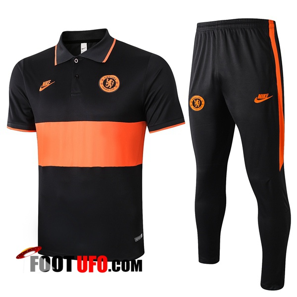 Nouveaux: 11Foots-fr Ensemble Polo FC Chelsea + Pantalon Orange 2020/2021