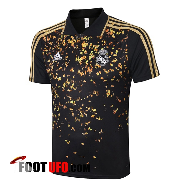 Polo Foot Real Madrid Noir Jaune 2020/2021