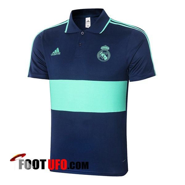 Polo Foot Real Madrid Bleu Vert 2020/2021
