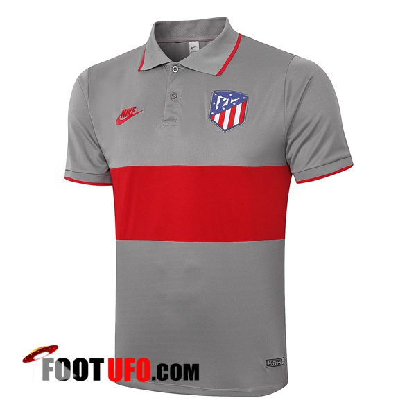 Polo Foot Atletico Madrid Gris Rouge 2020/2021