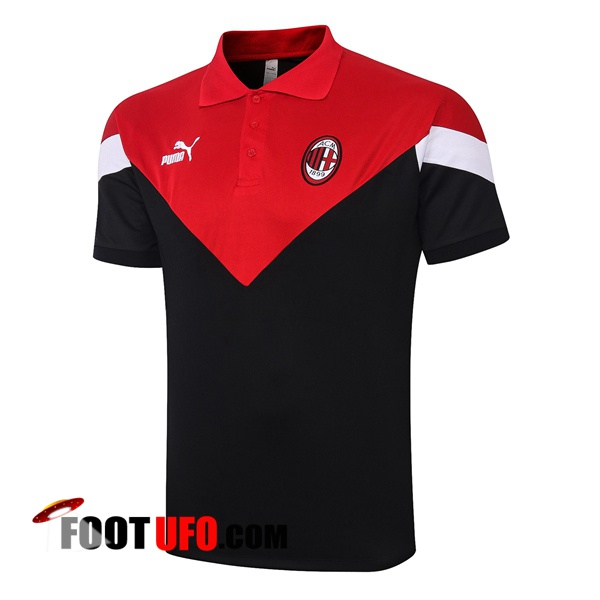 Polo Foot Milan AC Noir Rouge 2020/2021