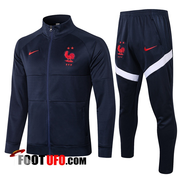 Nouveaux: 11Foots-fr Ensemble Survetement de Foot - Veste France Bleu Royal 2020/2021