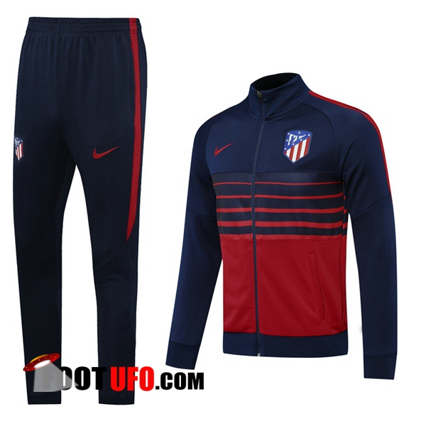 Nouveaux: 11Foots-fr Ensemble Survetement de Foot - Veste Atletico Madrid Bleu Royal 2020/2021