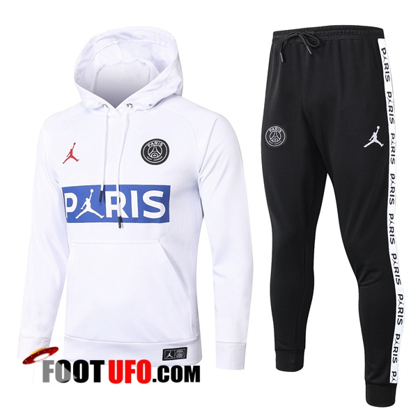 Veste A Capuche Survetement Foot Pairis PSG Jordan Blanc 2020/2021
