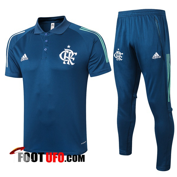 Nouveaux: 11Foots-fr Ensemble Polo Flamengo + Pantalon Bleu Royal 2020/2021