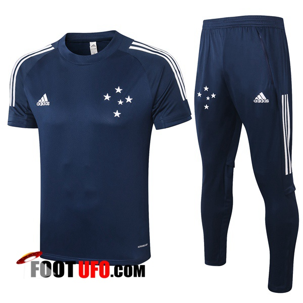 Nouveaux: 11Foots-fr Training T-Shirts Cruzeiro EC + Pantalon Bleu Royal 2020/2021