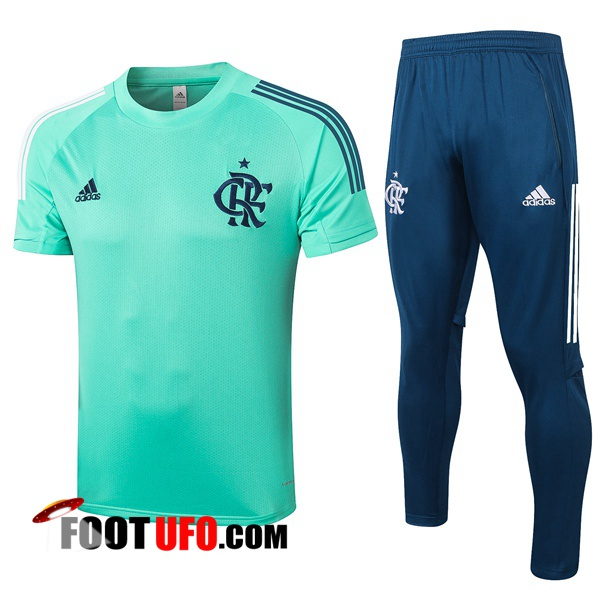 Ensemble Training T-Shirts Flamengo + Pantalon Vert 2020/2021