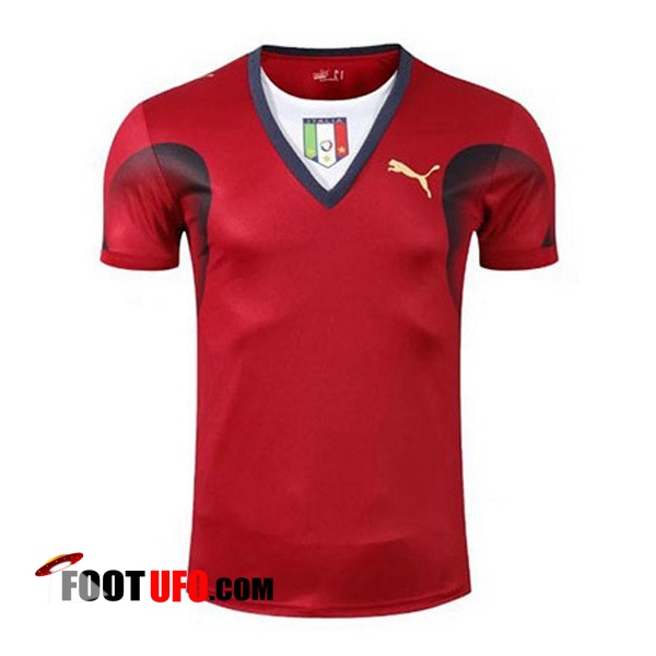 Maillot de Foot Italie Retro Gardien de But Rouge Coupe du Monde 2006