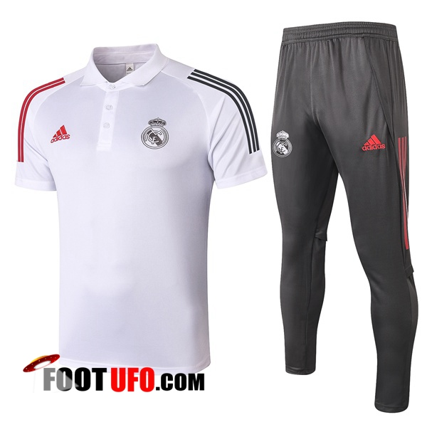 Ensemble Polo Real Madrid + Pantalon Blanc 2020/2021