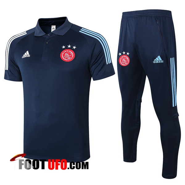 Nouveaux: 11Foots-fr Ensemble Polo AFC Ajax + Pantalon Bleu Royal 2020/2021