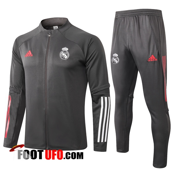 Nouveaux: 11Foots-fr Ensemble Survetement de Foot - Veste Real Madrid Gris 2020/2021