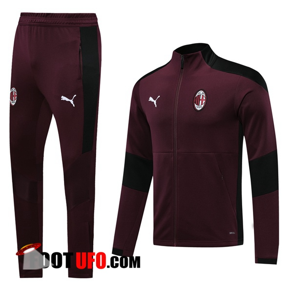 Ensemble Survetement de Foot - Veste Milan AC Rouge 2020/2021