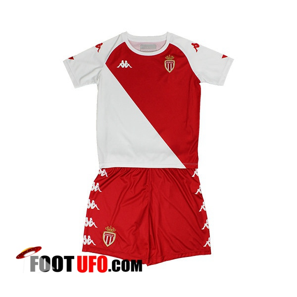 11Foots-fr Maillot de Foot AS Monaco Enfant Domicile 2020/2021