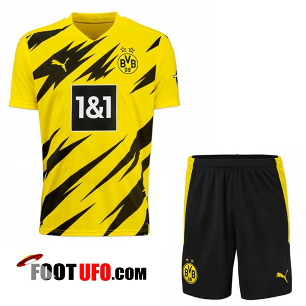 Ensemble 11Foots-fr Maillot de Foot Dortmund BVB Domicile + Short 2020/2021