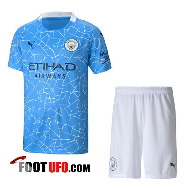 Ensemble 11Foots-fr Maillot de Foot Manchester City Domicile + Short 2020/2021