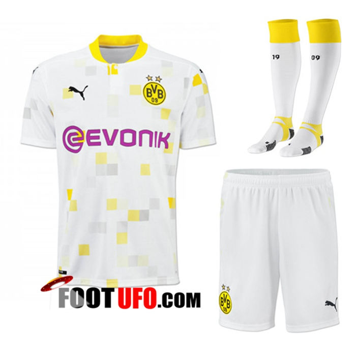 Ensemble 11Foots-fr Maillot de Foot Dortmund BVB Third (Short+Chaussettes) 2020/2021