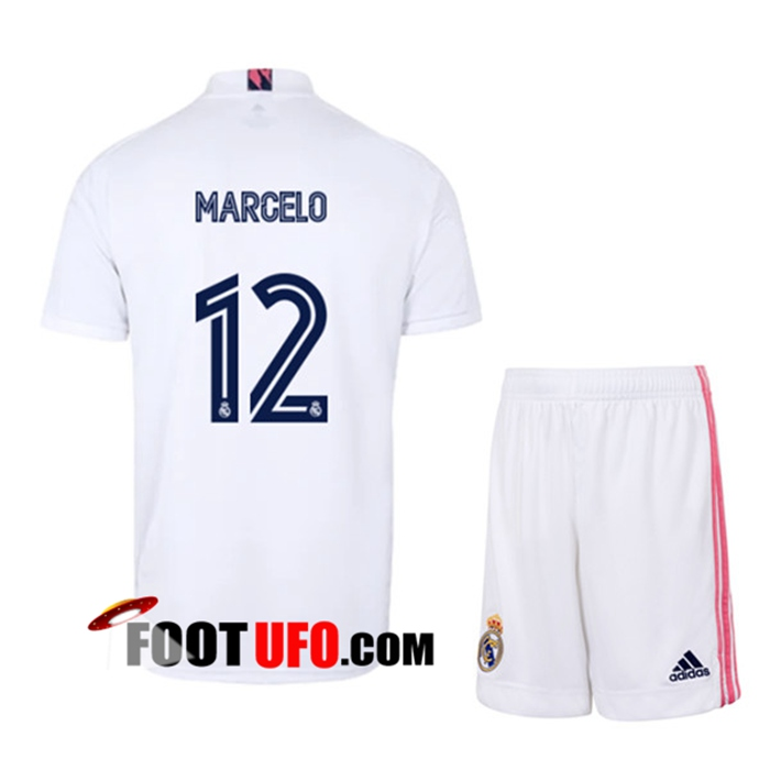 Maillot de Foot Real Madrid (MARCELO 12) Enfants Domicile 2020/2021