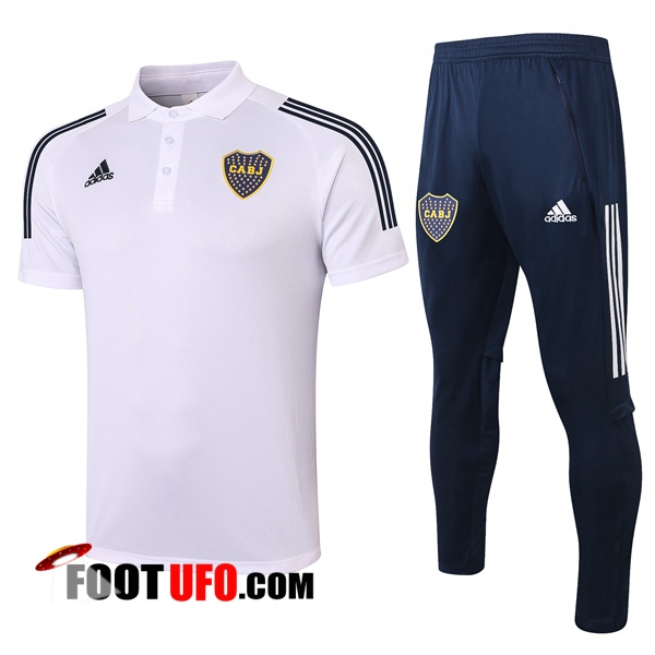 Nouveaux: 11Foots-fr Ensemble Polo Boca Juniors + Pantalon Blanc 2020/2021
