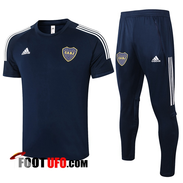 Nouveaux: 11Foots-fr Ensemble Training T-Shirts Boca Juniors + Pantalon Bleu Royal 2020/2021