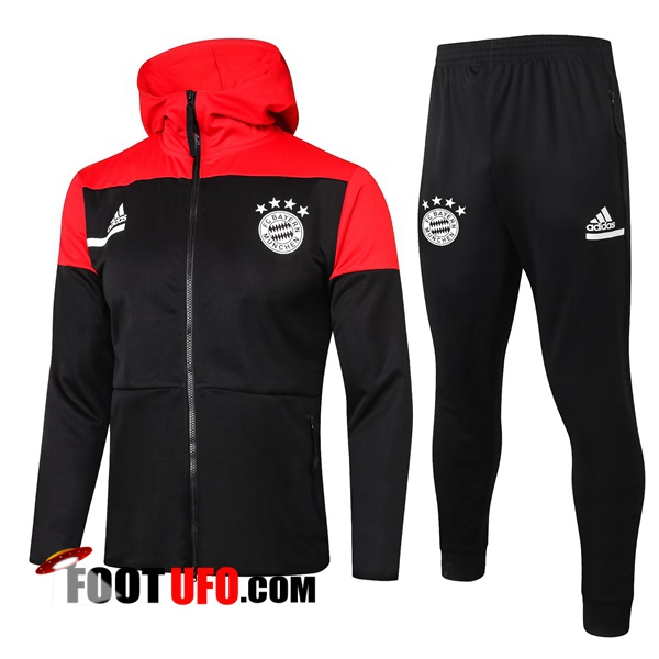 Veste A Capuche Survetement Foot Bayern Munich Noir 2020/2021
